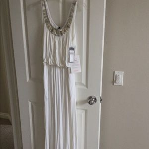 NWT BCBG maxi dress with scoop neck detail.